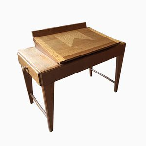 Vintage Oak Dressing Table by Guillerme et Chambron