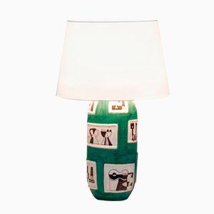 Keramik Tischlampe von Guido Gambone, 1950er
