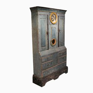 Swedish Cupboard with Clock, 1700s