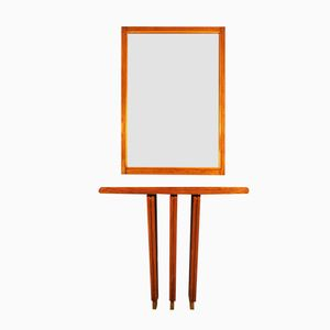 Art Deco Cubist Console and Mirror