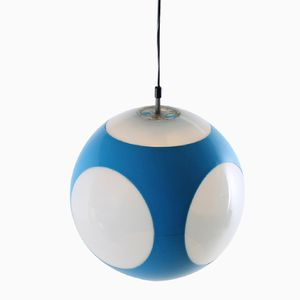 Blue German Globe Pendant Lamp by Luigi Colani