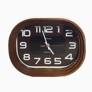 Modernist Wooden Clock from Kienzle Electronic, 1970s