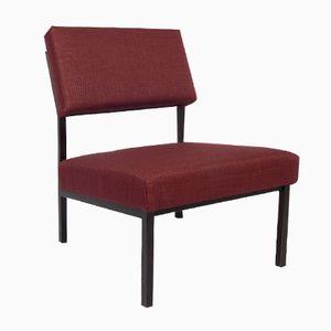 Burgundy Lounge Chair, 1960s