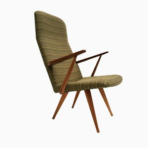 Swedish Lounge Chair with De Ploeg Fabric from Akerblom, 1960s