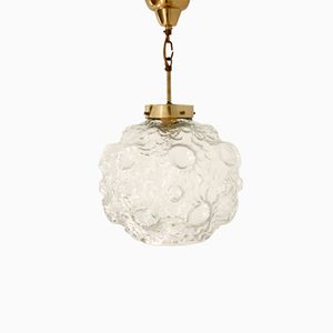 Swedish Ceiling Lamp with Glass Dome, 1960s