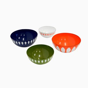 Enamel Bowls by Grete Prytz Kittelsen and Arne Clausen for Cathrineholm, 1960s, Set of 4