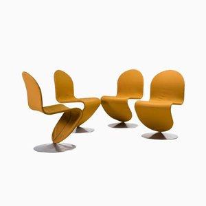 1-2-3 System Esszimmerstühle von Vernor Panton für Fritz Hansen, 4er Set