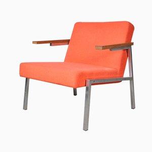 Modernistischer Armlehnstuhl aus Verchromten Metall von Spectrum