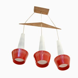 skandinavische mid century deckenlampe von verner schou. Black Bedroom Furniture Sets. Home Design Ideas