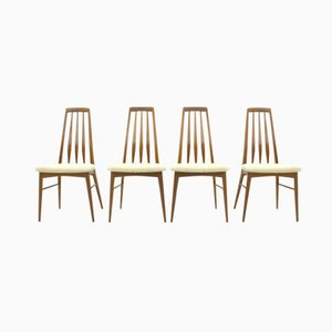 Eva Teak Dining Chairs by Niels Koefoed for Hornslet, 1960s, Set of 4