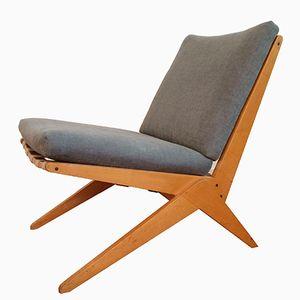 Sedia a forbice di Pierre Jeanneret per Wohnbedarf