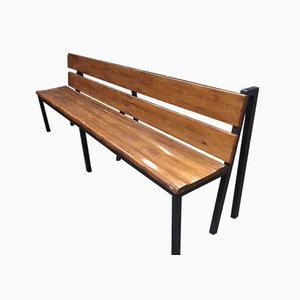 Industrial Factory Long Wooden Bench