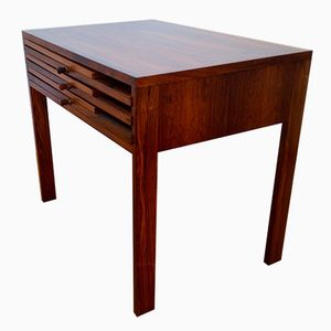 Rosewood Folding Nesting Tables by Illum Wikkelso for CFC Silkeborg, Set of 4
