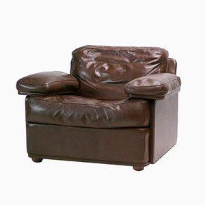 Vintage Sessel aus Leder von Tito Agnoli für Poltrona Frau