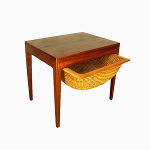 Vintage Sewing Table by Severin Hansen for Haslev Mobelsnedkeri