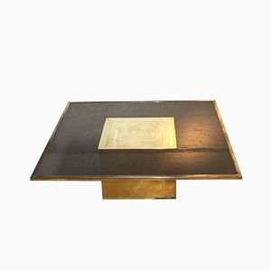 Brass & Glass Table by Jenatzi