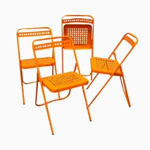 Folding Garden Chairs, Set of 4