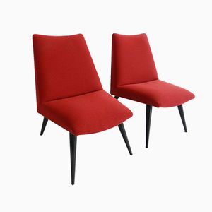 Swiss Visitor Chairs, 1960s, Set of 2