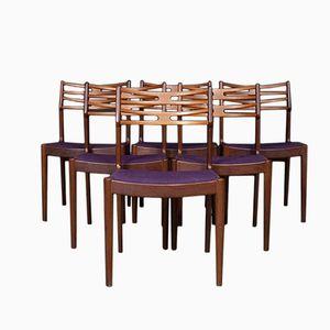 Teak Chairs by Johannes Andersen for Vamo Sønderborg, Set of 6