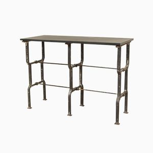 Slate-Topped Metal Console Table, 1930s