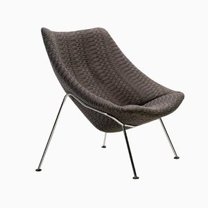 Large F157 Oyster Lounge Chair by Pierre Paulin for Artifort