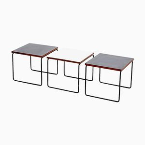Side Tables by Pierre Guariche for Steiner, 1950s, Set of 3