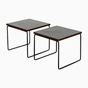 French Side Tables by Pierre Guariche for Steiner, 1950s, Set of 2