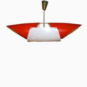 Plexiglas Deckenlampe von Angelo Lelli für Arredoluce