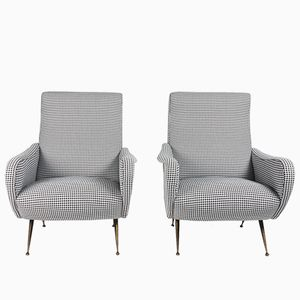 Mid-Century Italian Club Chairs, Set of 2