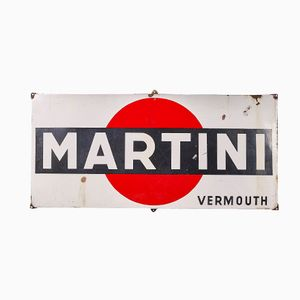 Martini Enameled Iron Sign, 1960s