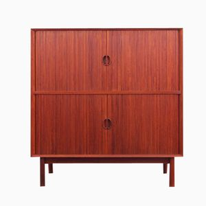 teak rollt r schrank von peter hvidt f r soborg 1960er. Black Bedroom Furniture Sets. Home Design Ideas