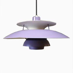 Lampe à Suspension, PH5, Violette par Poul Henningsen pour Louis Poulsen, 1970s