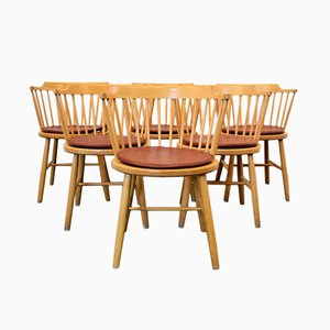 Model 3249 Beech Dining Chairs by Børge Mogensen for Fredericia, Set of 6
