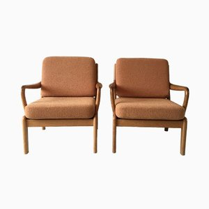 Dänische Lounge Stühle von L. Olsen und Son, 1960er, 2er Set