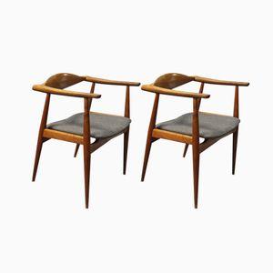 CH-35 Chairs by Hans J. Wegner by Carl Hansen & Søn, 1960s, Set of 2