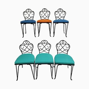French Garden Chairs by René Prou, Set of 6