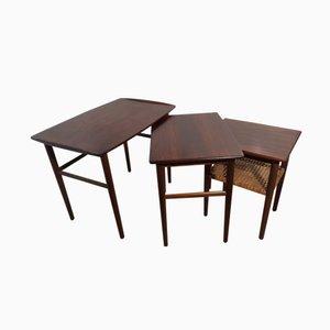 Danish Rosewood Nesting Tables, 1969, Set of 3