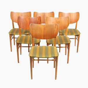 Danish Teak & Oak Dining Chairs by Eva & Nils Koppel, 1950s, Set of 6