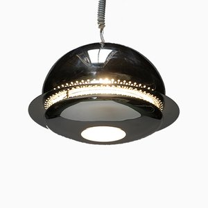 Chromed Nictea Pendant Lamp by Afra and Tobia Scarpa, 1961