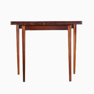 Mid-Century Rosewood Fold-Out Side Table