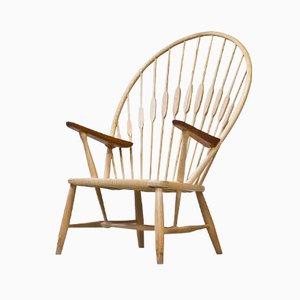 Peacock Chair mit Überzug aus Schafsfell von Hans J. Wegner für Johannes Hansen, 1960er