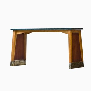 Vintage Swedish Teak and Birch Console Table from Bodafors, 1940s