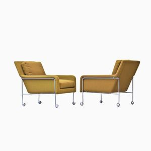 Vintage Dux Easy Chairs by Sam Larsson for Dux, Set of 2