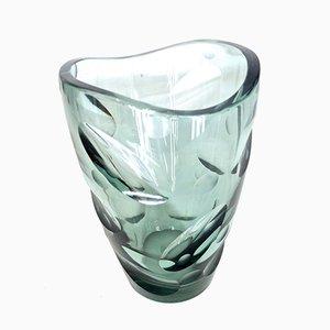 Vintage Vase aus Glas von Erich Jachmann für WMF