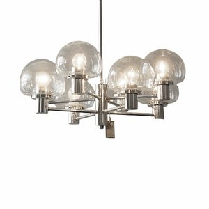 Large 8-Armed Chandelier from Kaiser, 1960s