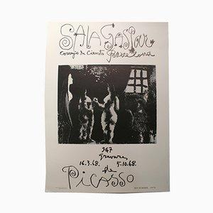 Affiche d'Exposition Picasso à Barcelone, 1970