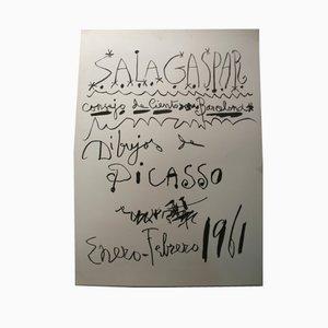 Poster con scritta di Picasso, Barcellona, 1961