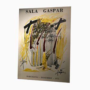 Large Antoni Tàpies Barcelona Exhibition Poster, 1971