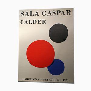 Affiche de l'Exposition Calder à Barcelone, 1973