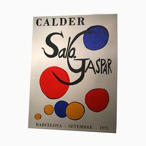 Affiche de l'Exposition Calder à Sala Gaspar à Barcelone, 1973